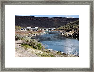 945a Swan Falls Dam Snake River Birds Of Prey Area Framed Print by NightVisions