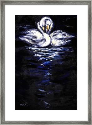 Swan Framed Print by Hiroko Sakai
