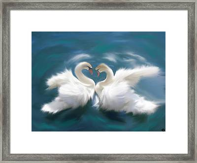 Swan  Framed Print by Kinepela Smith