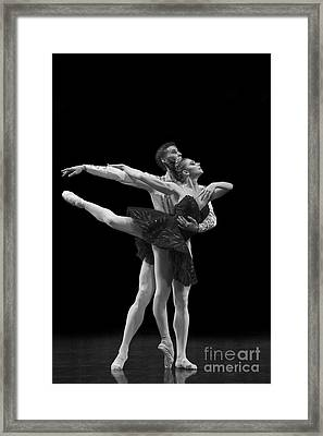 Swan Lake  Black Adagio  Russia  Framed Print by Clare Bambers
