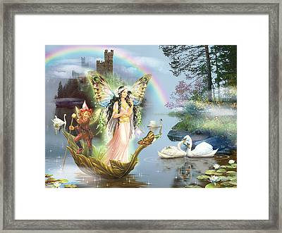 Swan Lake Fairy Framed Print by Zorina Baldescu