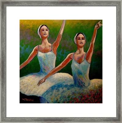 Swan Lake II Framed Print by John  Nolan