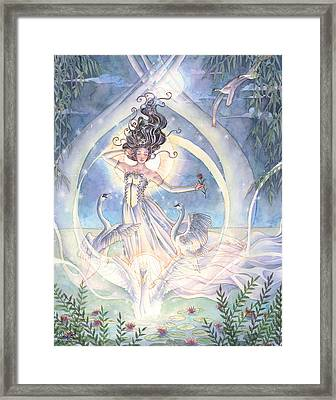 Swan Lake Framed Print by Sara Burrier