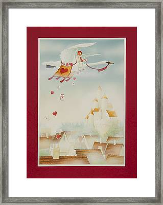 Swan Mail Framed Print by Lynn Bywaters