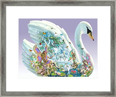 Swan Puzzle Framed Print by Adrian Chesterman