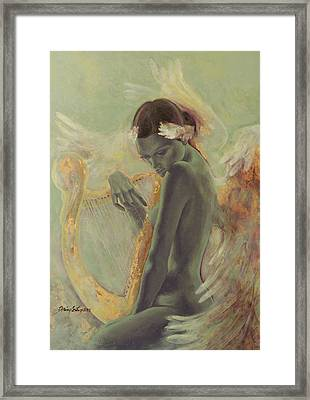 Swan Song Framed Print by Dorina  Costras