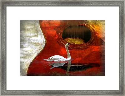 Swan Song Framed Print by Wendy Mogul