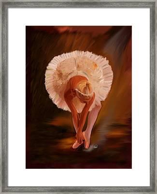 Swan Warming Up 1 Framed Print
