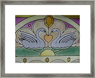 Swan Window Framed Print