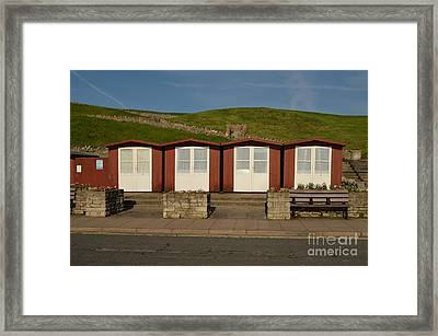 Swanage Beach Huts Framed Print by Linsey Williams