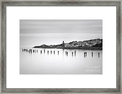 Swanage Old Pier And Peveril Point Framed Print