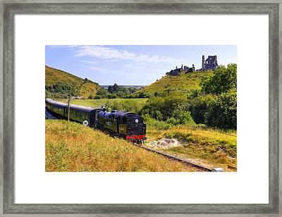 Swanage Steam Railway Framed Print by Joana Kruse