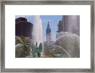 Swann Fountain In Philadelphia Framed Print by Bill Cannon