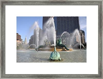 Swann Fountain Philadelphia Framed Print by Bill Cannon