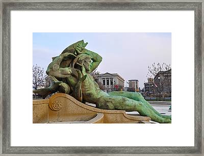 Swann Fountain - Running Dry Framed Print by Bill Cannon