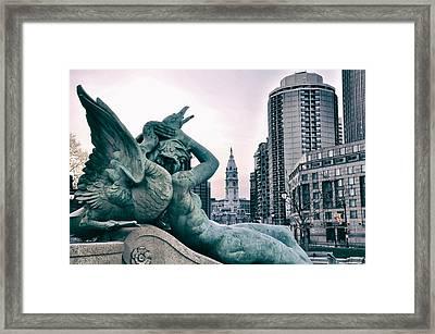 Swann Fountain Statue Framed Print by Bill Cannon