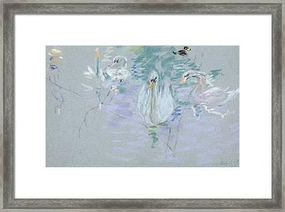 Swans Framed Print by Berthe Morisot