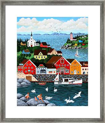 Swan's Cove Framed Print