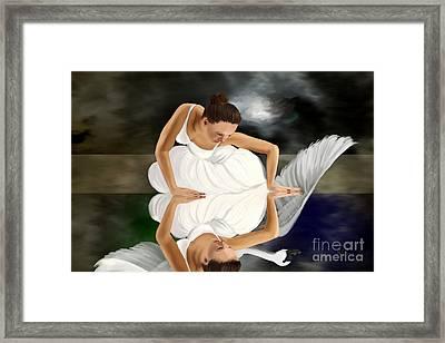 Swans Framed Print by Sydne Archambault