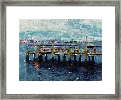 Swansboro Dock 1 Framed Print