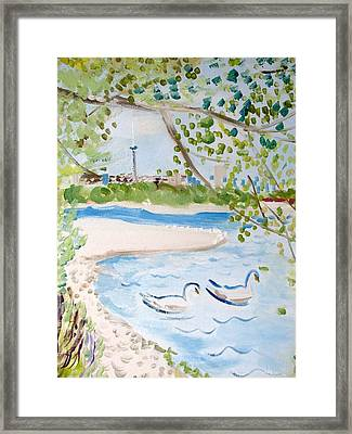Swansea Framed Print by Hilary Porado