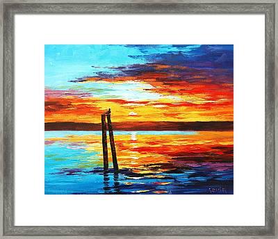 Swansea Sunset Framed Print