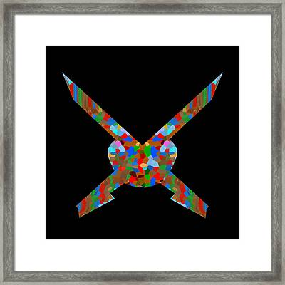 Sward Decoration Warriers Heros Winners Strength Decorated Masculine Macho  Framed Print