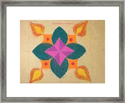 Swarna Jyot Framed Print by Sonali Gangane