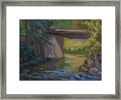 Swauk Creek Early Spring Framed Print
