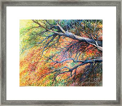 Sway Dancing Trees Framed Print by Linda Shackelford