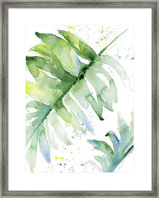 Swaying Palm Fronds I Framed Print by Lanie Loreth
