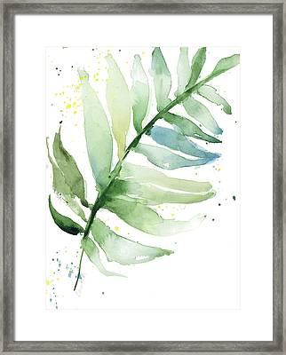 Swaying Palm Fronds II Framed Print by Lanie Loreth