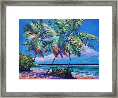 Swaying Palms  Framed Print by John Clark