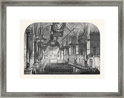 Swearing-in Of The 1st Lancashire Engineer Volunteers In St Framed Print by English School