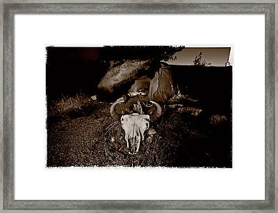 Sweat Lodge Framed Print by Christian Heeb