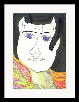 Girl Sweating Drawings Framed Prints
