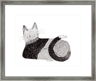 Sweater Cat Framed Print