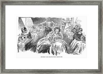 Sweatshop, 1912 Framed Print by Granger