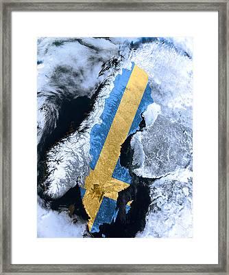Sweden Pride Framed Print by Daniel Hagerman