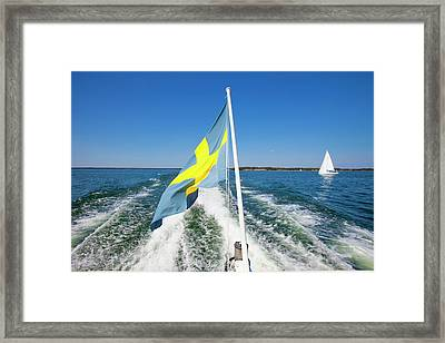 Sweden - Sailing In Stockholm Framed Print by Panoramic Images