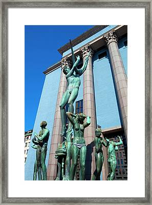 Sweden, Stockholm - The Concert Hall Framed Print by Panoramic Images