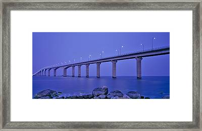 Sweden, The Bridge To The Island Framed Print by Panoramic Images