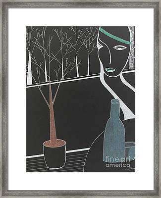 Framed Print featuring the painting Swedish Cafe by Bill OConnor