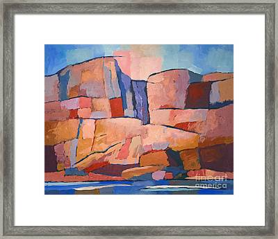 Swedish Cliffs Framed Print