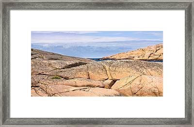 Swedish Cliffs Panorama Framed Print by Lutz Baar