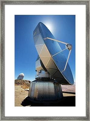 Swedish-eso Submillimetre Telescope Framed Print by Iztok Boncina/eso
