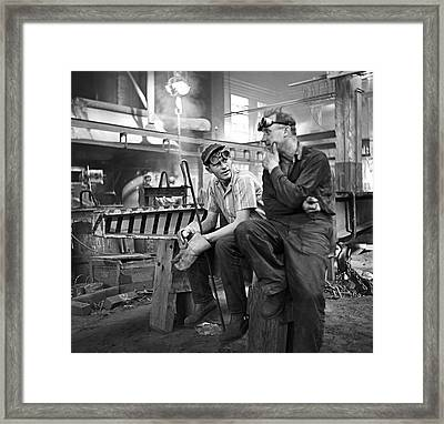 Swedish Foundry Workers Framed Print by David Murphy