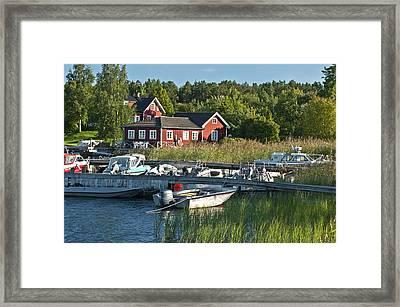 Swedish Summer Framed Print by Nancy De Flon
