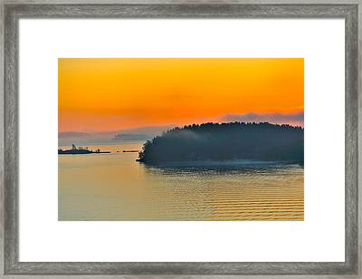 Framed Print featuring the photograph Swedish Sunrise by Marianne Campolongo