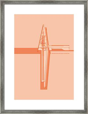 Swedish Vacuum Solar Telescope Framed Print by Peter Cassidy